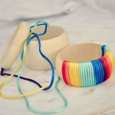 rainbow ombre bangle DIY