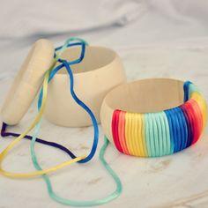 rainbow ombre bangle DIY