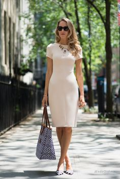 """I love everything about this. Even the necklace paired with this dress. My ideal silhouette as long as the fabric is """"forgiving"""""""