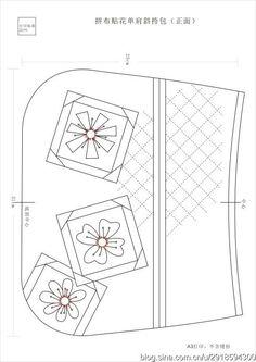 [转载]【影子手绘】拼布贴花单肩斜挎包图纸