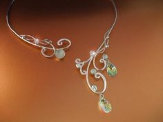 Moonlight Bridal Necklace Sterling Wedding Special Occasion Celtic Fairy Elven Renaissance Medieval. $199.99, via Etsy.