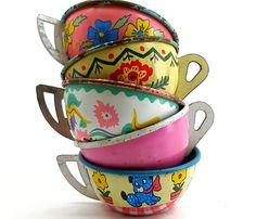 Vintage toy tea cups. by AlliesAdornments, via Flickr