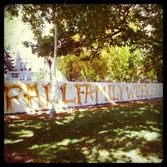 The Wall is ready for Fall Family Weekend! See you on Friday!