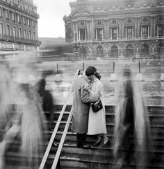 Bid now on Les Amoureux de l'Opera, Paris (Kiss on the Steps of the Opera House, Paris) by Robert Doisneau. View a wide Variety of artworks by Robert Doisneau, now available for sale on artnet Auctions. Robert Doisneau, Vintage Photography, Street Photography, Photography Tips, Panning Photography, Creative Couples Photography, Nostalgia Photography, Landscape Photography, Portrait Photography