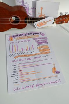 Sounds Like Happiness Ukulele Infographics This is a three part series that was made during an information design class taught by Kate Bingaman-Burt. Ukulele Songs, Ukulele Chords, Cigar Box Guitar, Information Design, Communication Design, Teaching Music, Little Boxes, Infographics, Lettering