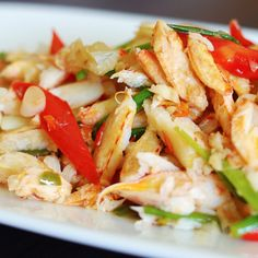 This recipe for stir fry crab is so easy to throw together and very satisfying.. Stir Fry Crab Recipe from Grandmothers Kitchen.