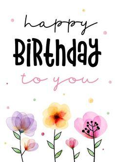 Free Happy Birthday Cards, Happy Birthday Greetings Friends, Happy Birthday Woman, Birthday Wishes For Kids, Happy Birthday Flower, Birthday Blessings, Birthday Wishes Quotes, Happy Wishes, Happy Birthday Messages