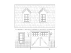 Garage Plan with Loft, 062G-0045