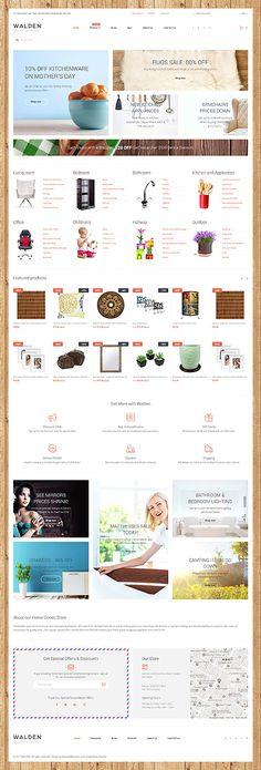 Template 62325 - Walden Home  Responsive Shopify  Theme