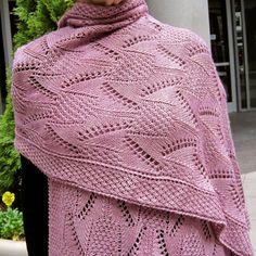Lace Wrap Pattern:  Damask Lace Wrap Knitting Pattern on Etsy, $6.50