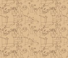 The drawings of Onfim fabric by quinnanya on Spoonflower - custom fabric