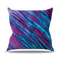 """Theresa Giolzetti """"Set Purple"""" Outdoor Throw Pillow"""