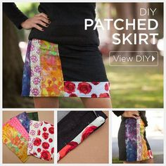 DIY Patched Skirt by Trinkets in Bloom