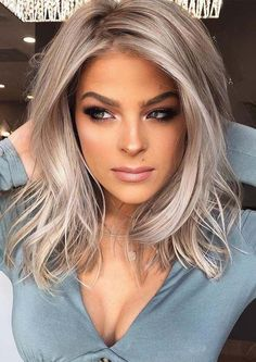 Beautiful Smokey Blonde Hair Color Ideas for Girls in 2019 – All About Hairsty. Beautiful Smokey B Hair Color Balayage, Blonde Balayage, Hair Highlights, Ombre Hair, Purple Hair, Blonde Color, Grey Hair, Blonde Hair With Blue Highlights, Pastel Blonde
