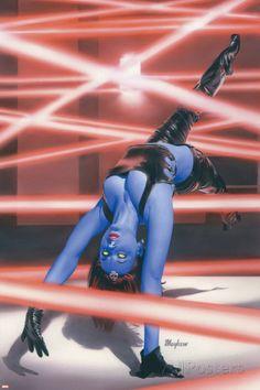 Mystique Cover: Mystique Marvel Comics Poster - 61 x 91 cm Marvel Girls, Hq Marvel, Marvel Comics Art, Marvel Women, Comics Girls, Comic Book Characters, Comic Book Heroes, Marvel Characters, Comic Character