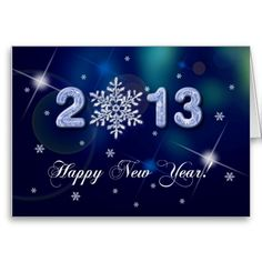 Happy New Year 2013 Customizable Greeting Card