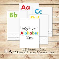 DIY Alphabet Book Baby Shower Activity Game