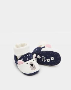Nipper Slippers were on Joshua's original wish list... perhaps some of these for his Christmas Eve box..  Nipper Polar Bear Character Slippers | Joules UK