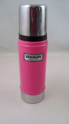 EUC-HTF-Bubblegum-Pink-Stanley-16-Ounce-Vacuum-Bottle-Insulated-Metal-Thermos