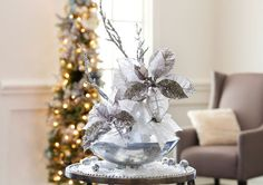 Frost Entry Table Floral Arrangement