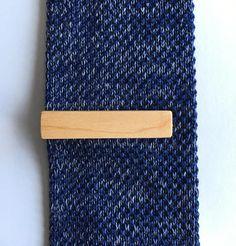 Maple Tie Clip  wood tie clip  wooden tie clip  wedding