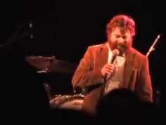 """""""What's your name? Claudia? That's my middle name."""" Zach Galifianakis humiliates a rude guest for being on her cell phone. The heckler of the week:"""