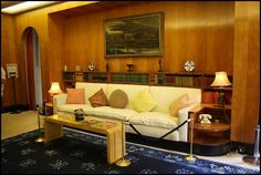 The Boudoir designed for Ginie (as Virginia Courtauld was affectionately called) featured an early example of built-in furniture.