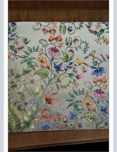 Floresta encantada/ passáros / Flores e passarinhos