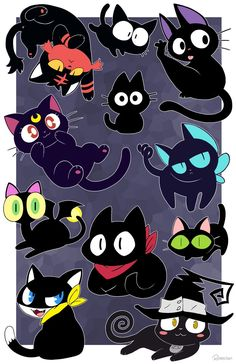"My table number is 😃 🐈"" Memes Arte, Otaku, Chibi, Pokemon, Black Cartoon, Cartoon Crossovers, Cat Character, Kitty Games, Fanart"