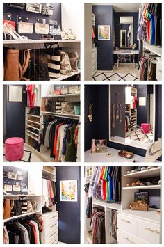 Collection of closet designs to organize your master bedroom, bring comfort and luxury into your home organization. Walk in closet design ideas Modern bedroom design with walk-in closet and sliding doors Custom-built walk-in closets are luxurious Diy Master Closet, Closet Redo, Closet Bedroom, Closet Storage, Closet Organization, Glam Closet, Closet Vanity, Dream Closets, Saving Ideas