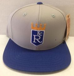 8367827ae3d Kansas City Royal MBL VINTAGE SNAPBACK CAP GREY Royal ADULT NEW AMERICAN  NEEDLE