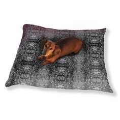 Uneekee Stained Gray Dog Pillow Luxury Dog / Cat Pet Bed
