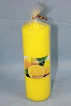 #Kerze Lemon, Candles, Candle Decorations, Pillar Candles, Lights, Candle