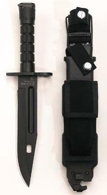 Military Knives Black GI Type M-9 Bayonet MILITARY KNIVES CAMPING TOOLS MILITARY WEAPONS  $75.81