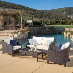 Shop for Outdoor Antibes 4-piece Wicker Chat Set with Cushions by Christopher Knight Home. Get free delivery at Overstock.com - Your Online Garden