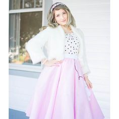 Pretty in a pink poodle skirt. J'Adore Lexie Couture