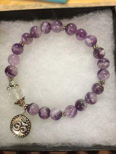 Amethyst Crown Chakra Bracelet Spiritual by JewelrybyJAM on Etsy