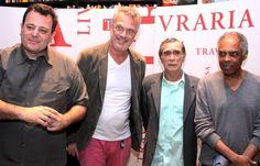 Pedro Bial no lançamento do DVD sobre Jorge Mautner.  Ofuxico