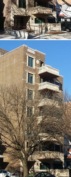 Concrete Balusters and Window Surrounds/Moldings for Apartment Building in Brooklyn, NY. #precast coralcast.com