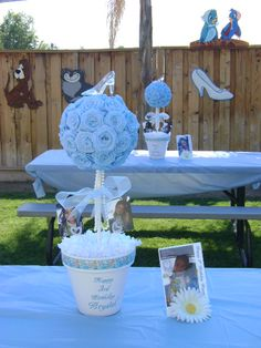 Cinderella Centerpieces @Karen Darling Space & Stuff Blog Baldwin Crooks What do you think of some of these?