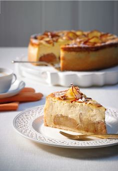 Eine gelungene Kombination - Käsekuchen mit Bratapfel