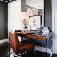 Luxury Home Office Design Ideas. Thus, the requirement for home offices.Whether you are planning on adding a home office or renovating an old room into one, here are some brilliant home office design ideas to aid you start. Gray Home Offices, Home Office Design, Home Office Decor, House Design, Home Decor, Office Ideas, Workspace Design, Office Designs, Office Nook