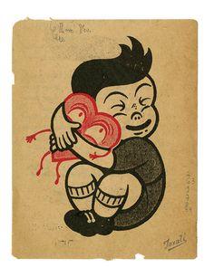 A fun illustration by Gary Taxali. Gravure Illustration, Graphic Illustration, Sketch Manga, Happy Valentines Day Images, Photocollage, Vintage Cartoon, Illustrations, Magazine Art, Pop Art