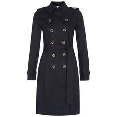 Buy Hobbs Saskia Trench Coat, Navy Online at johnlewis.com