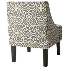 Hudson Upholstered Accent Chair - Gray/Citron