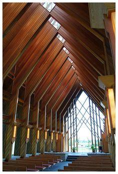 Powell Gardens - 001 - - Gardens – 001 – - Sacred Architecture, Church Architecture, Organic Architecture, Architecture Details, Interior Architecture, Powell Gardens, Modern Church, Church Interior, Church Design
