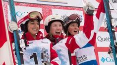 Canadian women finished one through four and MikaëlKingsbury earned his 35th career victory as the World Cup moguls circuit hit...