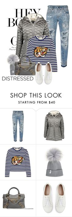 """Distressed Denim"" by perilousness-fashion on Polyvore featuring Dolce&Gabbana, Steve Madden, Gucci, Balenciaga and Mint Velvet"