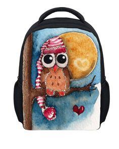 58f01c1682f7 Mini Animal Prints School Backpack for Girls Toddler Children Owl Backpack  Mochila Kids Baby Kindergarten Book Bag