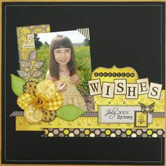 #papercraft #scrapbook #layout An Authentique Blissful Layout - Scrapbook.com